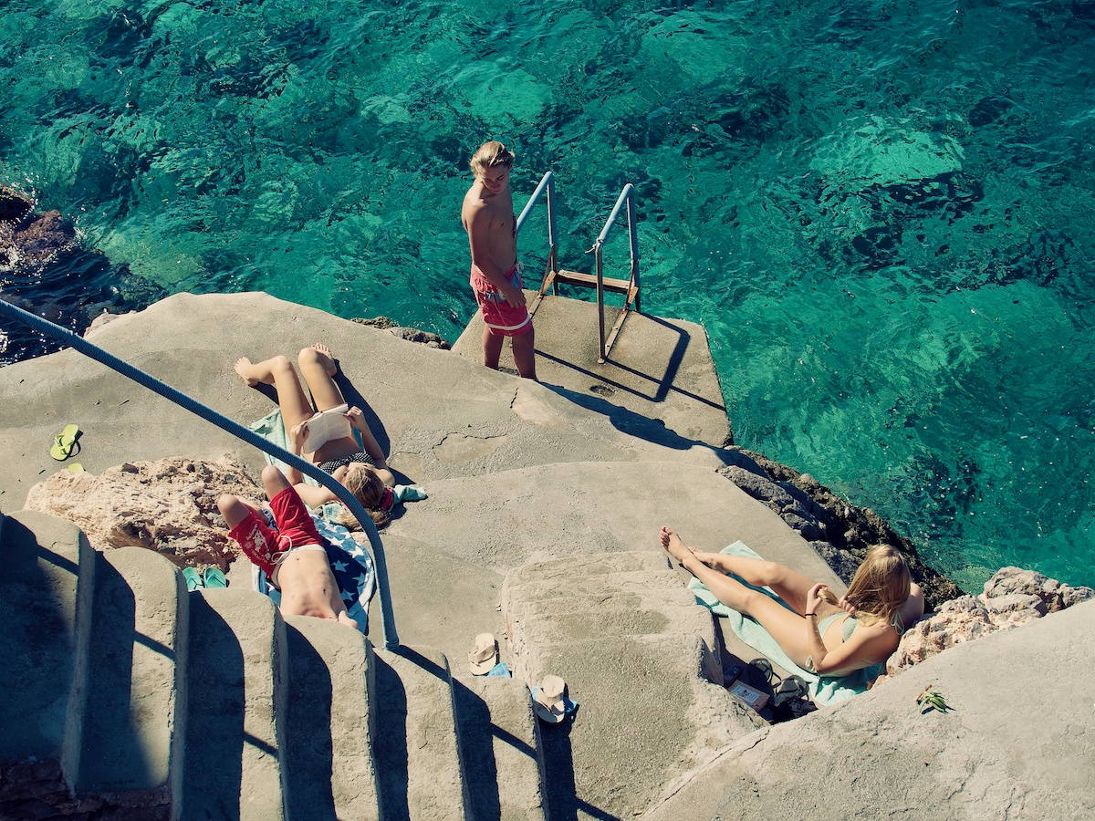 Swimming in the end of October;Europe;Greece;Greek Islands;Hydra;travel