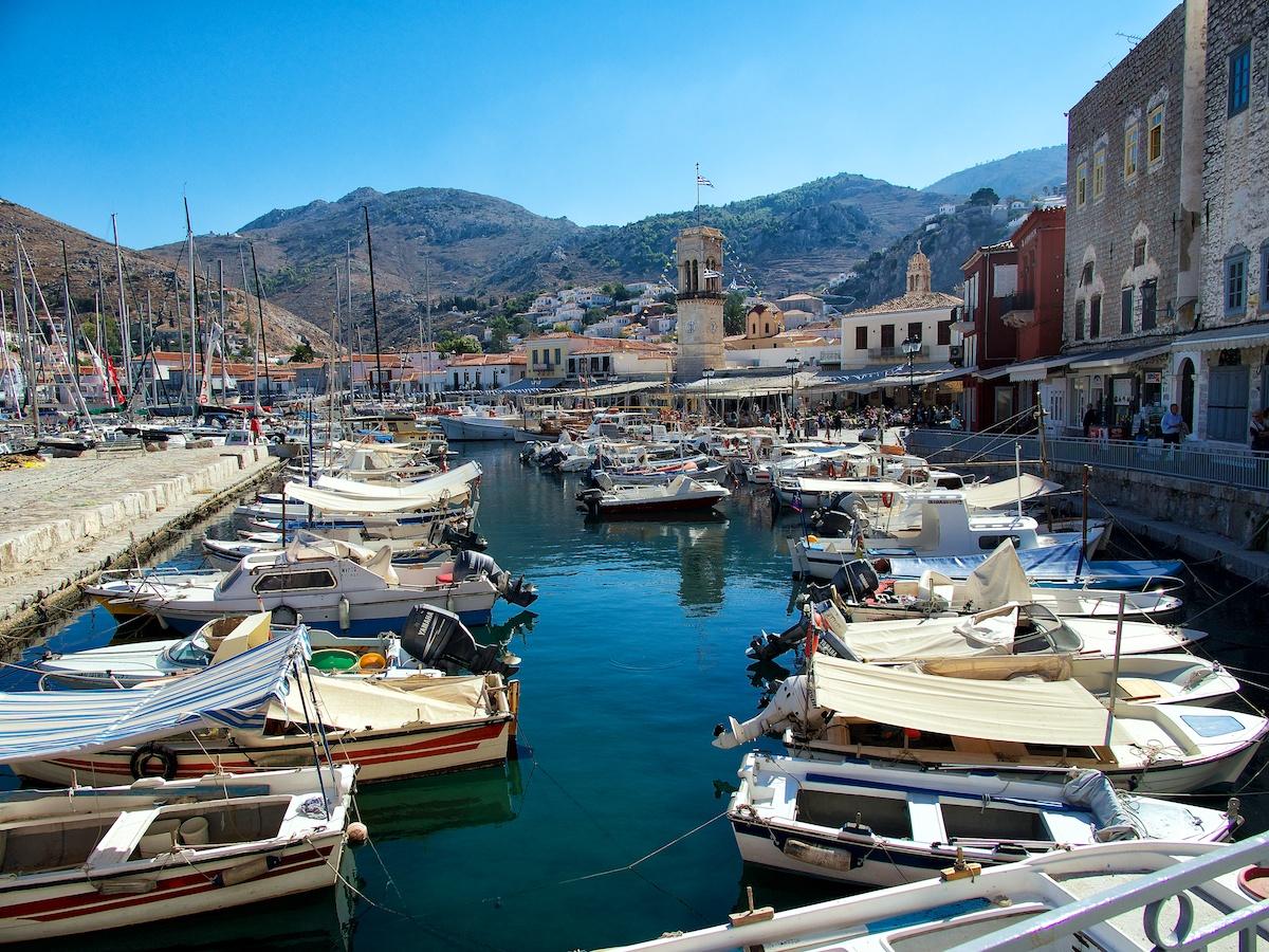 Hydra Port;Europe;Greece;Greek Islands;Hydra;travel