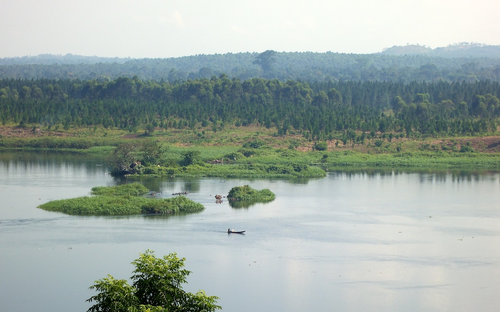 The Nile, starting point for our rafting adventure;16x9;Africa;Nile;rafting;Travel;Uganda