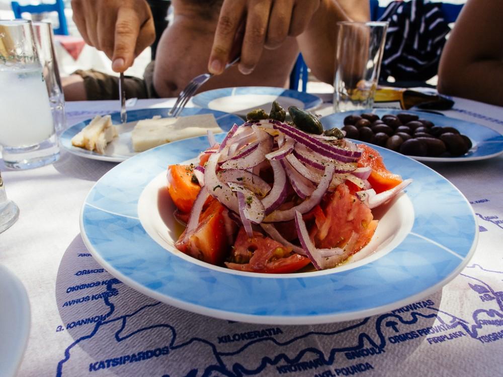 Ouzo and Salad